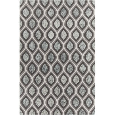 Delong Patterned Contemporary Gray/White Area Rug Rug Size: 5 x 76