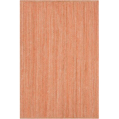 Alyssa Textured Contemporary Orange Area Rug Rug Size: 79 x 106