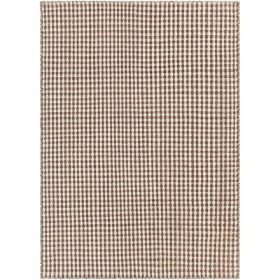 Crest Textured Beige/Brown Area Rug Rug Size: 79 x 106