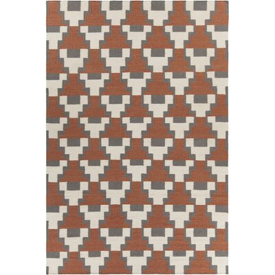 Charlene Textured Contemporary Rust Area Rug Rug Size: 79 x 106