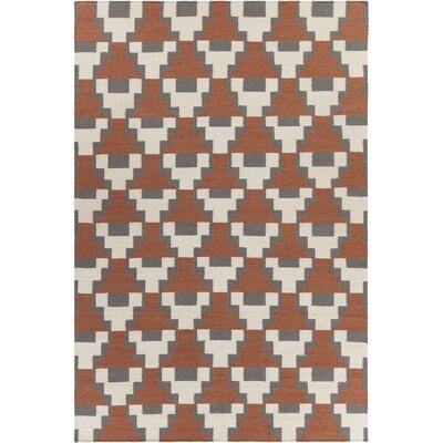 Avon Textured Contemporary Rust Area Rug Rug Size: 79 x 106