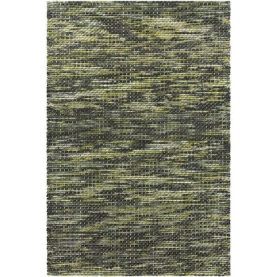 Oana Textured Contemporary Wool Green/Gray Area Rug Rug Size: 79 x 106