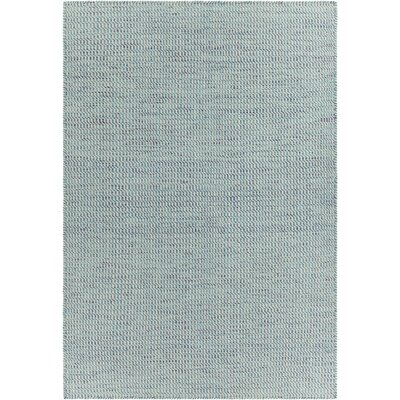 Crest Textured Blue Area Rug Rug Size: 79 x 106