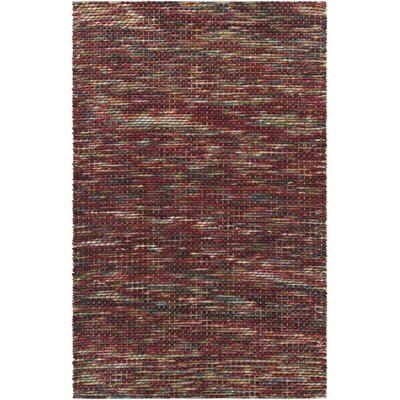 Oana Textured Contemporary Wool Red Area Rug Rug Size: 79 x 106