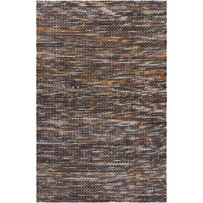 Argos Textured Contemporary Wool Area Rug Rug Size: 79 x 106