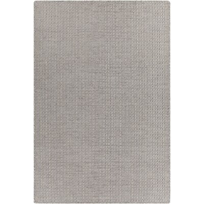 Crest Textured Gray Area Rug Rug Size: 5 x 76