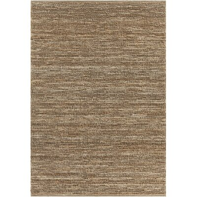 Lilliana Hand-Woven Textured Jute Area Rug Rug Size: Rectangle 5 x 76