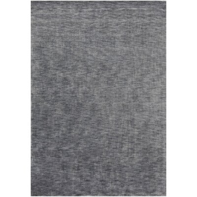 Opel Textured Solid Charcoal Area Rug Rug Size: 5 x 76