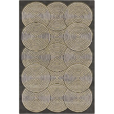 Stella Gray/Cream Area Rug Rug Size: 8 x 10