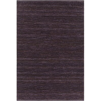 Arlene Textured Jute Purple Area Rug Rug Size: 9 x 13