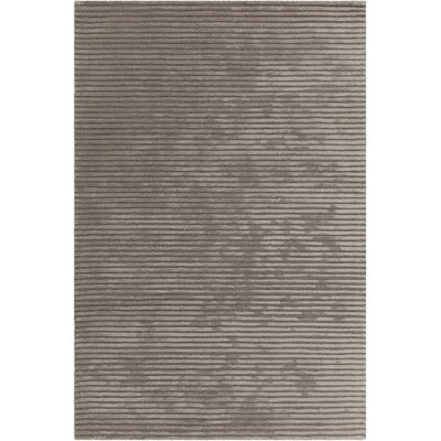 Nathen Textured Striped Taupe Area Rug Rug Size: 79 x 106