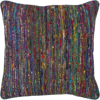 Textured Contemporary Silk Throw Pillow Size: 18 H x 18 W