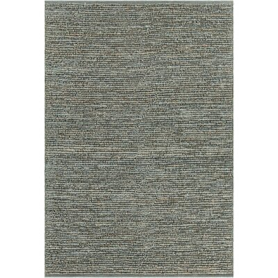 Lilliana Textured Jute Green Area Rug Rug Size: Rectangle 79 x 106