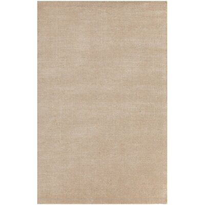Greger Solid Tan Area Rug Rug Size: 79 x 106