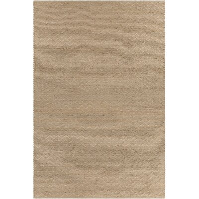 Hammonton Textured Contemporary Wool Natural Area Rug Rug Size: 79 x 106