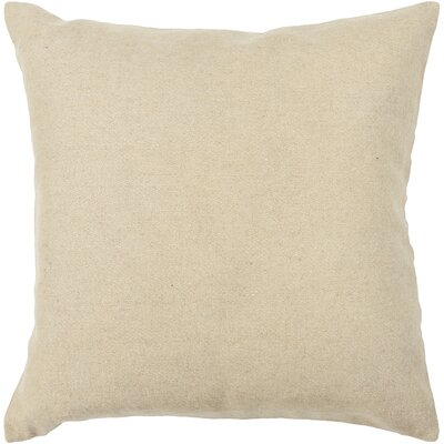 Textured Wool Throw Pillow Size: 18 H x 18 W
