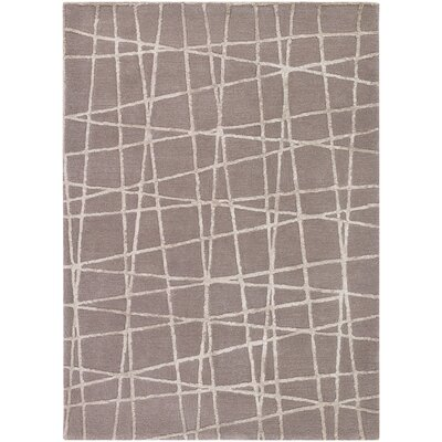 Priscilla Patterned Contemporary Taupe/Beige Area Rug Rug Size: 5 x 76