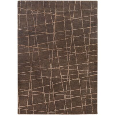 Priscilla Patterned Contemporary Brown Area Rug Rug Size: 5 x 76