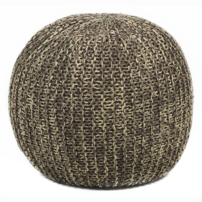 Textured Contemporary Ottoman Upholstery: Beige/Brown