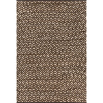 Grecco Textured Contemporary Brown/Tan Area Rug Rug Size: 79 x 106