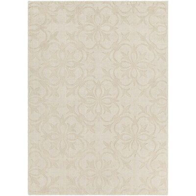 Beazer Patterned Tranditional Cream Area Rug Rug Size: 5 x 7