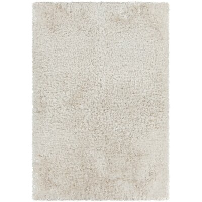 Mairead Textured Shag White Area Rug Rug Size: Rectangle 5 x 76