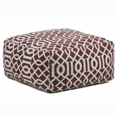 Textured Contemporary Printed Pouf Ottoman