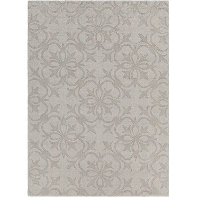 Rekha Patterned Tranditional Gray Area Rug Rug Size: 5 x 7