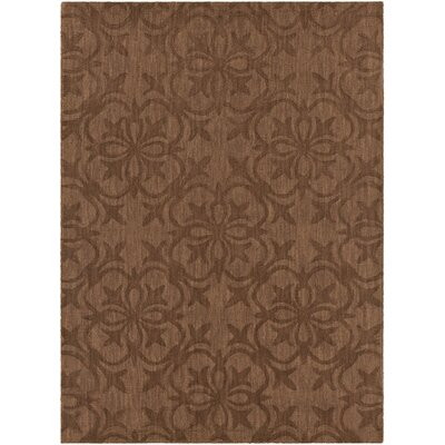 Rekha Patterned Tranditional Brown Area Rug