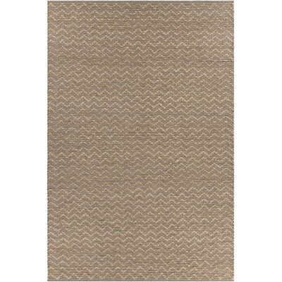 Grecco Textured Contemporary Natural Area Rug Rug Size: 5 x 76