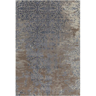 Powell Patterned Contemporary Gray/Blue Area Rug Rug Size: 9 x 13