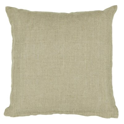 Textured Contemporary Linen Throw Pillow Size: 18 H x 18 W
