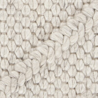 Arend Textured Contemporary Beige Area Rug Rug Size: 5 x 76
