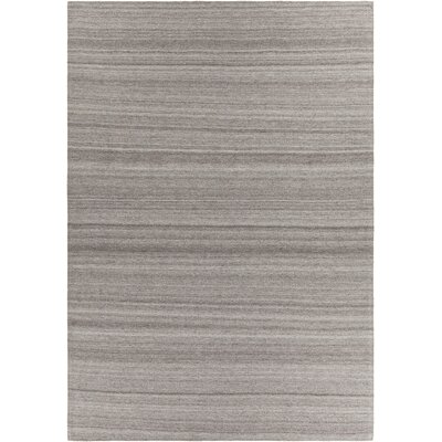 Poppy Textured Cotemporary Dark Gray Area Rug Rug Size: 5 x 76