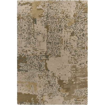 Powell Patterned Contemporary Beige Area Rug Rug Size: 79 x 106