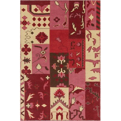 Casselman Patterned Contemporary Pink/Red Area Rug Rug Size: 79 x 106