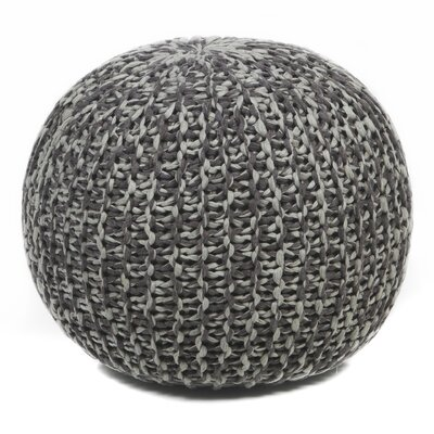 Textured Contemporary Ottoman Upholstery: Brown/Gray