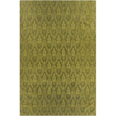 Shenaz Patterned Wool Green Area Rug Rug Size: 5' x 7'6