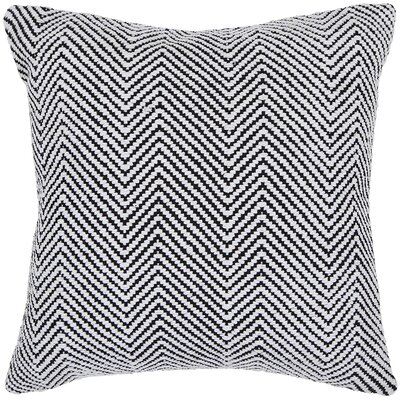 Yochman Textured Contemporary Cotton Throw Pillow Size: 18 H x 18 W