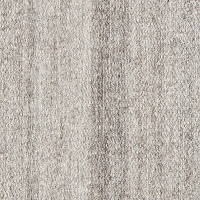 Poppy Textured Cotemporary Light Gray Area Rug Rug Size: 5 x 76