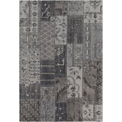 Casselman Patterned Contemporary Gray Area Rug Rug Size: 79 x 106