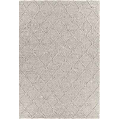 Arend Textured Contemporary Gray Area Rug Rug Size: 79 x 106