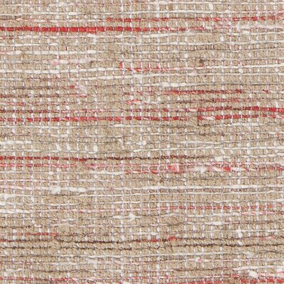Pretor Textured Contemporary Pink/Natural Area Rug Rug Size: 79 x 106