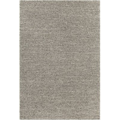 Kurten Contemporary Wool Taupe Area Rug Rug Size: 79 x 106