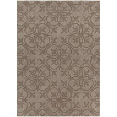 Beazer Patterned Tranditional Wool Brown Area Rug Rug Size: 5 x 7
