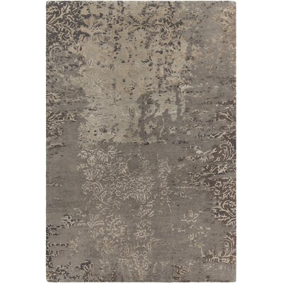 Powell Patterned Contemporary Gray/Beige Area Rug Rug Size: 5 x 76