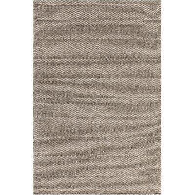 Kurten Contemporary Wool Brown Area Rug Rug Size: 79 x 106