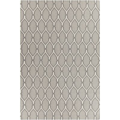 Lima Patterned Reversible Wool Gray Area Rug Rug Size: 7 x 10