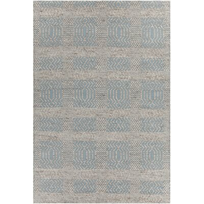 Salona Patterned Contemporary Blue/Natural Area Rug Rug Size: 79 x 106