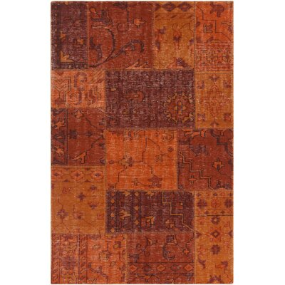 Fusion Patterned Contemporary Orange Area Rug Rug Size: 79 x 106
